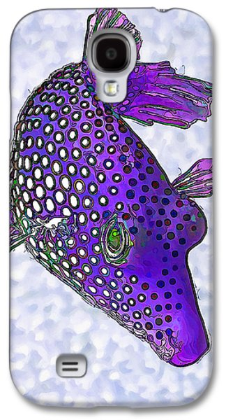 Photo Manipulation Galaxy S4 Cases - Guinea Fowl Puffer Fish in Purple Galaxy S4 Case by Bill Caldwell -        ABeautifulSky Photography