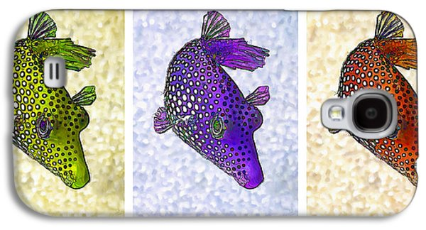 Photo Manipulation Galaxy S4 Cases - Guinea Fowl Puffer Fish Triptych Galaxy S4 Case by Bill Caldwell -        ABeautifulSky Photography