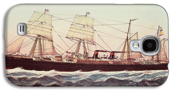 Greyhound Galaxy S4 Cases - Guion Line Steampship Arizona of the Greyhound Fleet Galaxy S4 Case by Currier and Ives