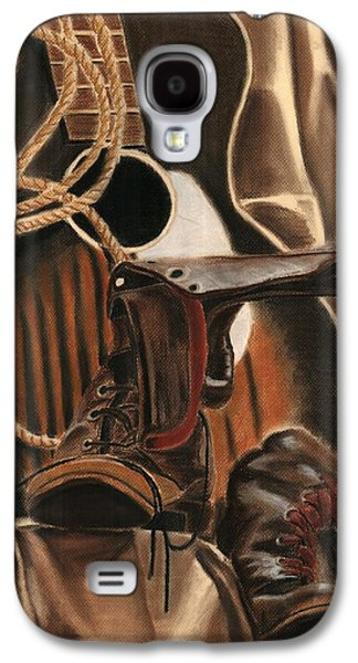 Music Pastels Galaxy S4 Cases - Guitar and Boots  Galaxy S4 Case by Jordan Spector