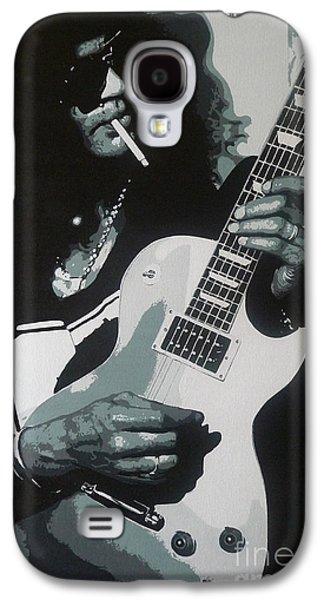Slash Paintings Galaxy S4 Cases - Guitar Man Galaxy S4 Case by ID Goodall