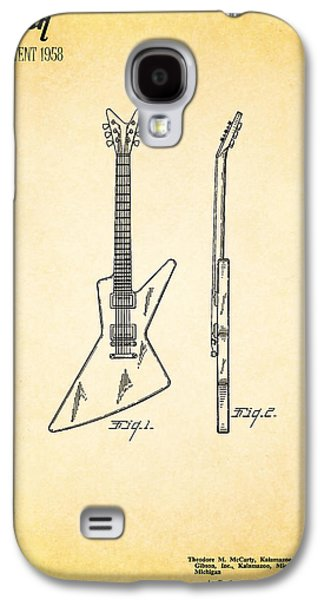 Music Photographs Galaxy S4 Cases - Guitar Patent 1958 Galaxy S4 Case by Mark Rogan