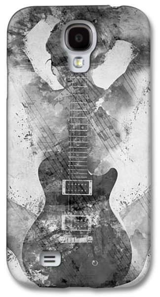 Sound Digital Galaxy S4 Cases - Guitar Siren in Black and White Galaxy S4 Case by Nikki Smith