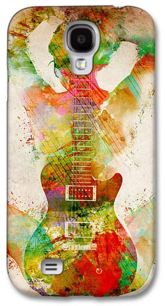 Celebrities Galaxy S4 Cases - Guitar Siren Galaxy S4 Case by Nikki Smith