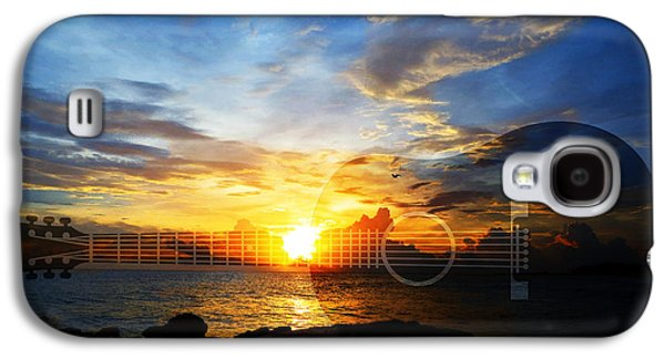 Music Photographs Galaxy S4 Cases - Guitar Sunset - Guitars by Sharon Cummings Galaxy S4 Case by Sharon Cummings