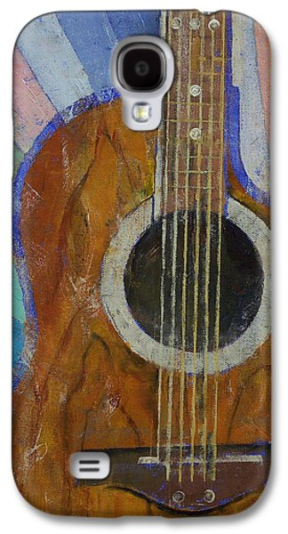 Sun Rays Paintings Galaxy S4 Cases - Guitar Sunshine Galaxy S4 Case by Michael Creese