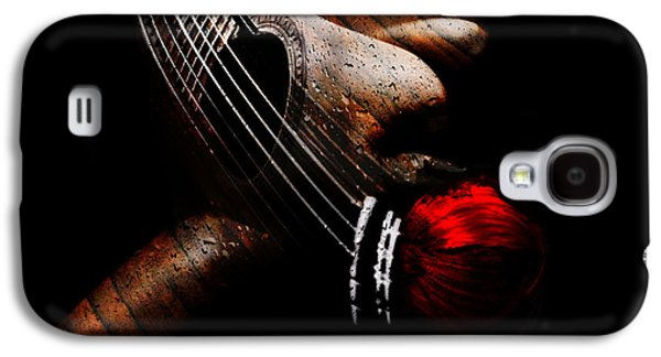 Photo Manipulation Galaxy S4 Cases - Guitar Woman Galaxy S4 Case by Marian Voicu
