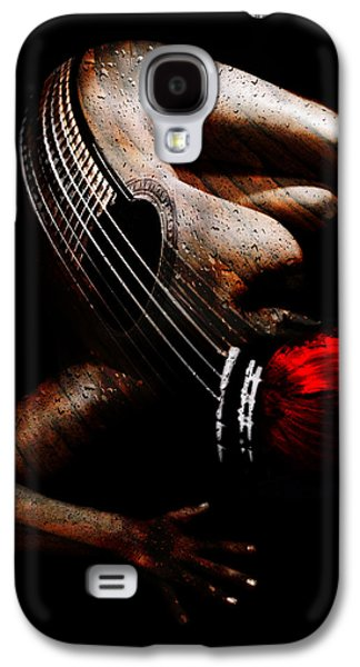 Photo Manipulation Mixed Media Galaxy S4 Cases - Guitar Woman Galaxy S4 Case by Marian Voicu