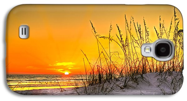 Sand Dunes Galaxy S4 Cases - Gulf Sunset Galaxy S4 Case by Marvin Spates
