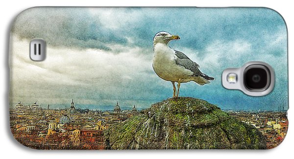 Merging Galaxy S4 Cases - Gull Over Rome Galaxy S4 Case by Jack Zulli