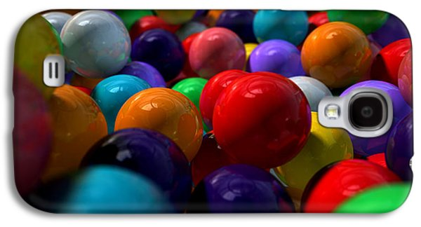 Macro Digital Art Galaxy S4 Cases - Gumballs Up Close And Personal Galaxy S4 Case by Allan Swart