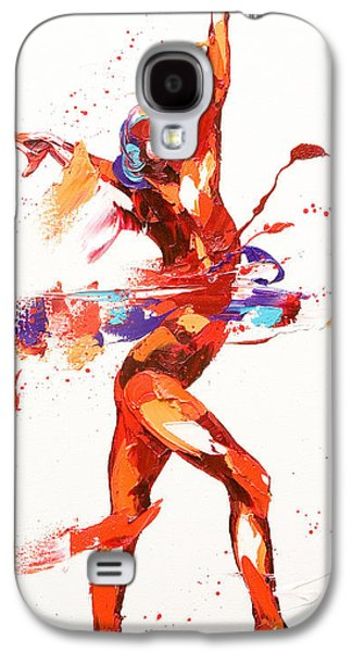 Abstract Movement Galaxy S4 Cases - Gymnast Four Galaxy S4 Case by Penny Warden