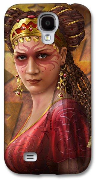 Jewellery Galaxy S4 Cases - Gypsy Woman Galaxy S4 Case by Ciro Marchetti