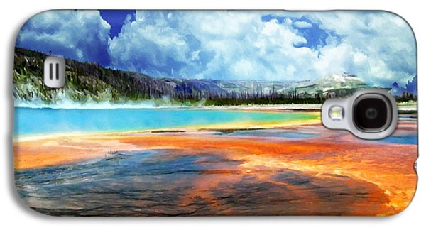Bison Digital Art Galaxy S4 Cases - Gyser Pool Yellowstone NPS Galaxy S4 Case by  Bob and Nadine Johnston
