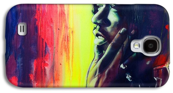 Jimi Hendrix Paintings Galaxy S4 Cases - Gyspy Sun and Rainbows Galaxy S4 Case by Christian Chapman Art