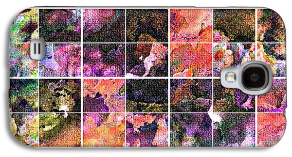 Digital Tapestries - Textiles Galaxy S4 Cases - Tiled Watercolor Blocks with Texture 3 Galaxy S4 Case by Barbara Griffin