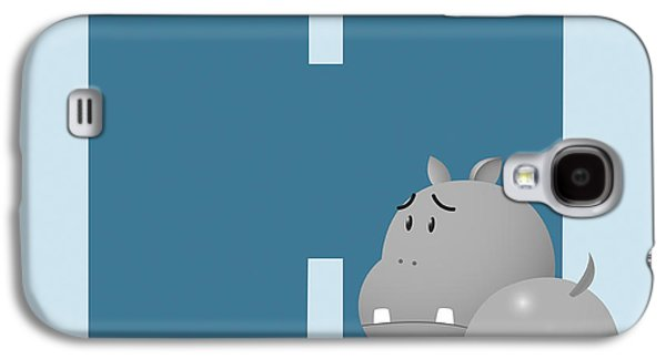 Hippopotamus Digital Galaxy S4 Cases - H Galaxy S4 Case by Gina Dsgn