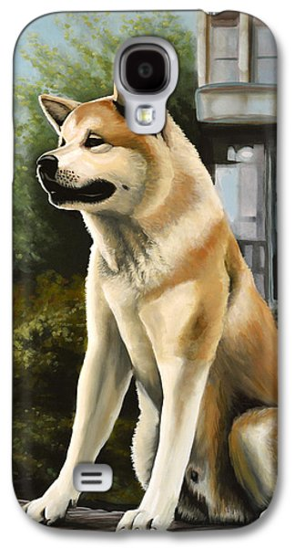 Hachi Painting Galaxy S4 Case by Paul Meijering