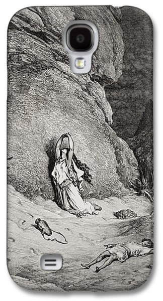 Hagar And Ishmael In The Desert Galaxy S4 Case by Gustave Dore