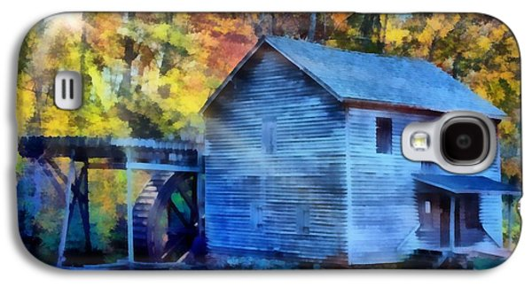 Grist Mill Paintings Galaxy S4 Cases - Hagood Mill with Sunrays Galaxy S4 Case by Lynne Jenkins