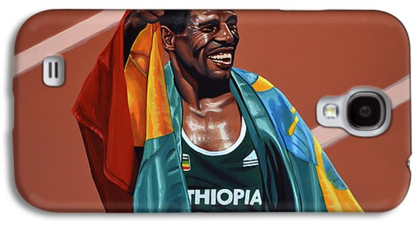 Champions Galaxy S4 Cases - Haile Gebrselassie Galaxy S4 Case by Paul  Meijering