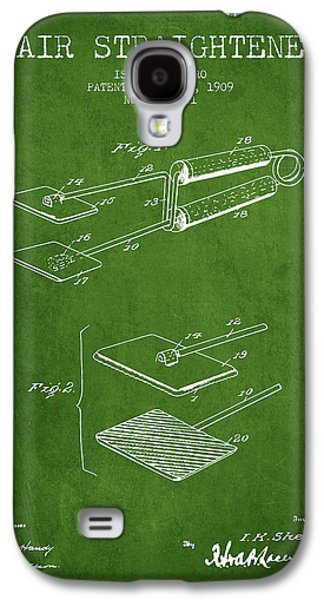 Cutting Galaxy S4 Cases - Hair Straightener Patent from 1909 - Green Galaxy S4 Case by Aged Pixel