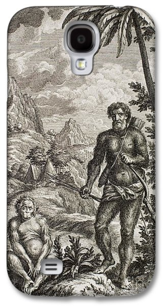 Creationism Galaxy S4 Cases - Hairy Esau, Scheuchzer, 1731 Galaxy S4 Case by Paul D. Stewart