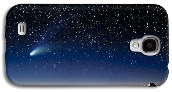 Keck Galaxy S4 Cases - Hale Bopp And Observatories, Hawaii Galaxy S4 Case by David Nunuk