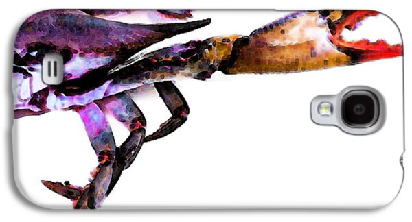 Ocean Mixed Media Galaxy S4 Cases - Half Crab - The Right Side Galaxy S4 Case by Sharon Cummings