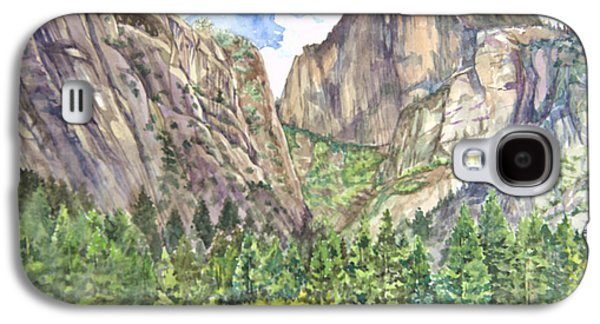 Half Dome Paintings Galaxy S4 Cases - Half Dome in Spring Galaxy S4 Case by Heewon Kim