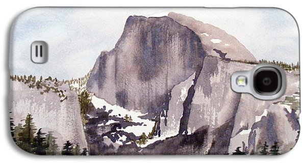 Half Dome Paintings Galaxy S4 Cases - Half Dome Galaxy S4 Case by Kari Raley