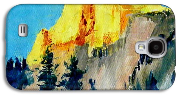 Half Dome Paintings Galaxy S4 Cases - Half Dome Light Galaxy S4 Case by Carol Bower