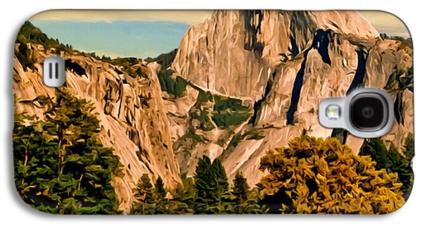 Half Dome Paintings Galaxy S4 Cases - Half Dome Painting Galaxy S4 Case by  Bob and Nadine Johnston