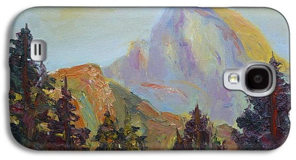 Half Dome Paintings Galaxy S4 Cases - Half Dome View Galaxy S4 Case by Carolyn Jarvis
