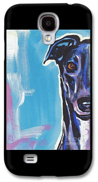 Greyhound Galaxy S4 Cases - Half Grey  Galaxy S4 Case by Lea