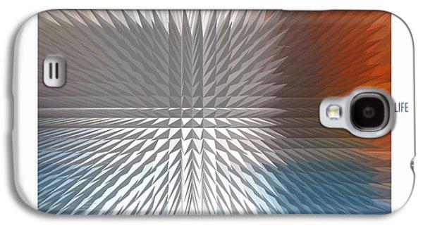 Abstract Digital Mixed Media Galaxy S4 Cases - Half Life Galaxy S4 Case by Bob Salo
