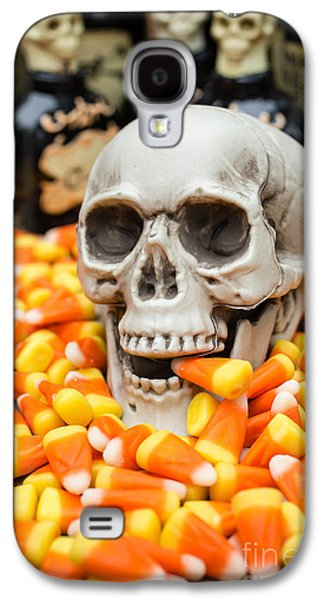 Creepy Galaxy S4 Cases - Halloween Candy Corn Galaxy S4 Case by Edward Fielding