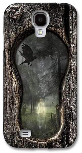 Graveyard Galaxy S4 Cases - Halloween Keyhole Galaxy S4 Case by Amanda And Christopher Elwell