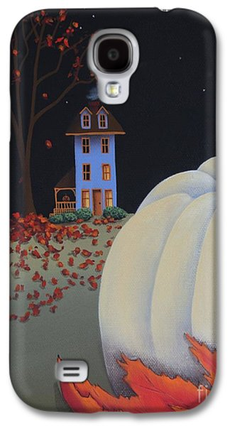 Catherine White Paintings Galaxy S4 Cases - Halloween on Pumpkin Hill Galaxy S4 Case by Catherine Holman