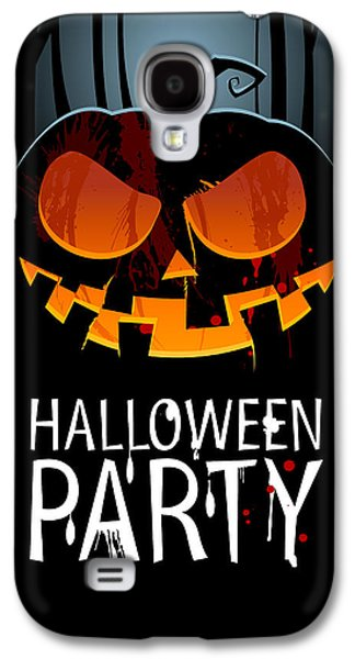 Halloween Digital Art Galaxy S4 Cases - Halloween Party Galaxy S4 Case by Gianfranco Weiss