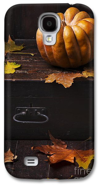 Greeting Cards Pyrography Galaxy S4 Cases - Halloween Pumpkin Galaxy S4 Case by Jelena Jovanovic