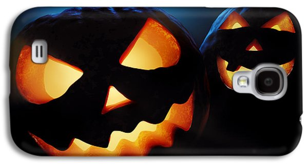 Ghostly Galaxy S4 Cases - Halloween pumpkins closeup -  jack olantern Galaxy S4 Case by Johan Swanepoel