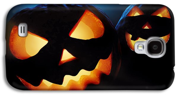 Face Digital Galaxy S4 Cases - Halloween pumpkins closeup -  jack olantern Galaxy S4 Case by Johan Swanepoel