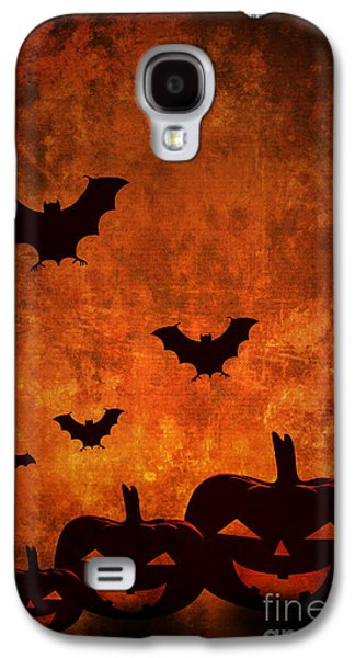Greeting Cards Pyrography Galaxy S4 Cases - Halloween Pumpkins Galaxy S4 Case by Jelena Jovanovic