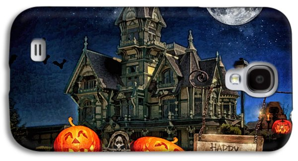 Creepy Digital Art Galaxy S4 Cases - Halloween Spot Galaxy S4 Case by Mo T