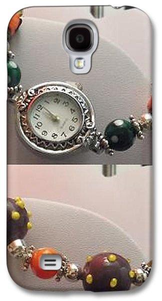 Yellow Jewelry Galaxy S4 Cases - Halloween Watch Galaxy S4 Case by Kimberly Johnson