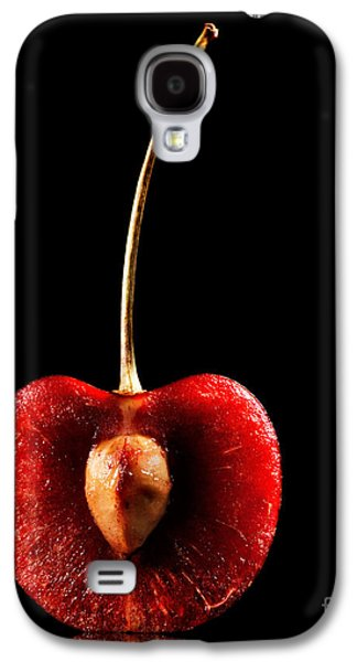 Healthy Galaxy S4 Cases - Halved Red Cherry Galaxy S4 Case by Johan Swanepoel