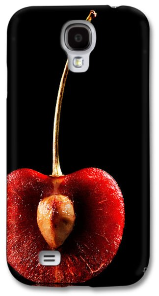 Studio Photographs Galaxy S4 Cases - Halved Red Cherry Galaxy S4 Case by Johan Swanepoel