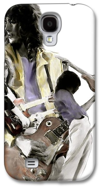 Jimmy Page Galaxy S4 Cases - Hammer of The Gods IV Jimmy Page Galaxy S4 Case by Iconic Images Art Gallery David Pucciarelli