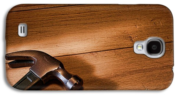Hammer Galaxy S4 Cases - Hammer on Wood Galaxy S4 Case by Olivier Le Queinec